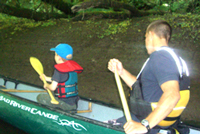 Sam on his canoe trip