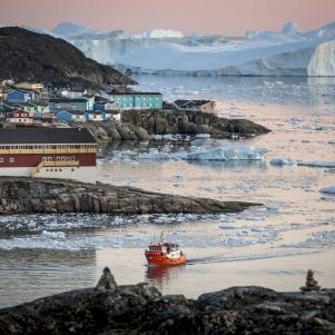 Greenland passenger boat