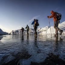 Glacier walking Greenland