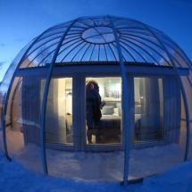 Igloo accommodation Sweden