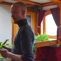 Herb garden on board SV Linden