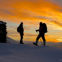 G Austick-romantic snow shoeing at Lyngen Lodge in Norway