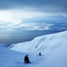 luxury snowmobiling in Svalbard