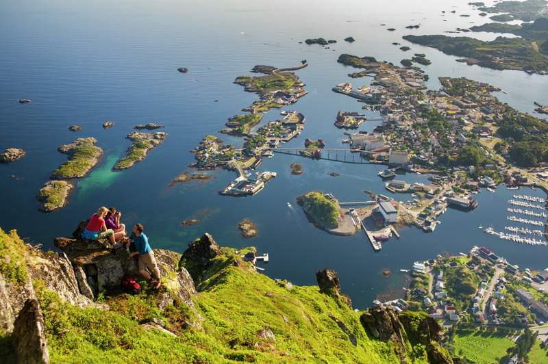 Fly Drive Holiday In The Lofoten And Vesteralan Islands - Norway map lofoten islands
