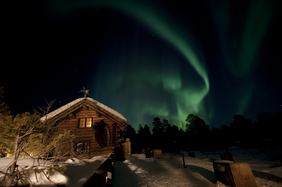 Engholm Lodge Northern Lights And Dog Sledding Holiday