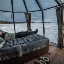 Inside the Aurora Hut, what a view!