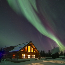 Northern Lights holiday Yukon Lodge