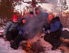 Snow shoeing during the Winter Solstice camp 2012