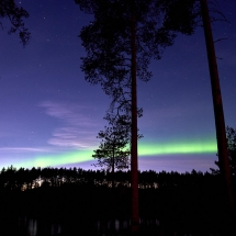 Northern lights over Arctic Retreat (Credit Graeme Richardson)