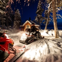 Snowmobile Northern Lights Hunt
