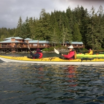 Sea kayaking by the lodge