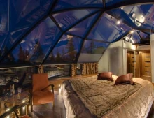 Glass Igloo and Villa Break in search of the Northern Lights Levi Finland