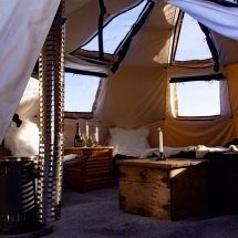 Inside your private yurt