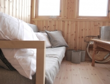 Inside the cabin (Spitsbergen)