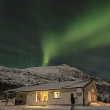 Northern lights over the lodge (Credit: James McDaniel)