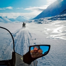 Snow mobile holiday