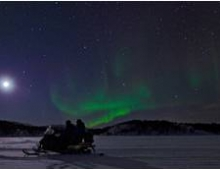 Northern Lights near to the Snow Hotel
