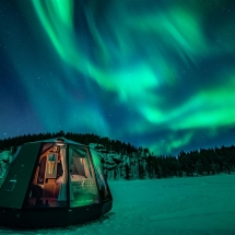 A scenic view from an Aurora Hut