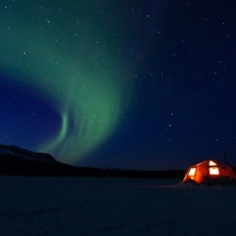 Sleeping under the Northern Lights