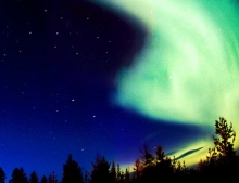 The Northern Lights near to the Tree Hotel in Sweden
