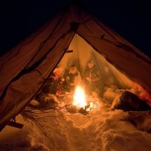 Sami storytelling in a lavvo