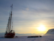 The Ship in the Ice - one of the sights of Spitsbergen you will see