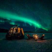 Aurora hut on the Ice